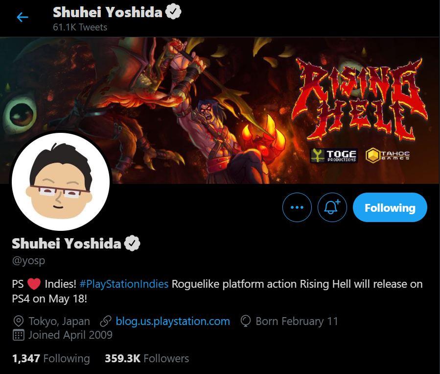 shuhei yoshida rising hell