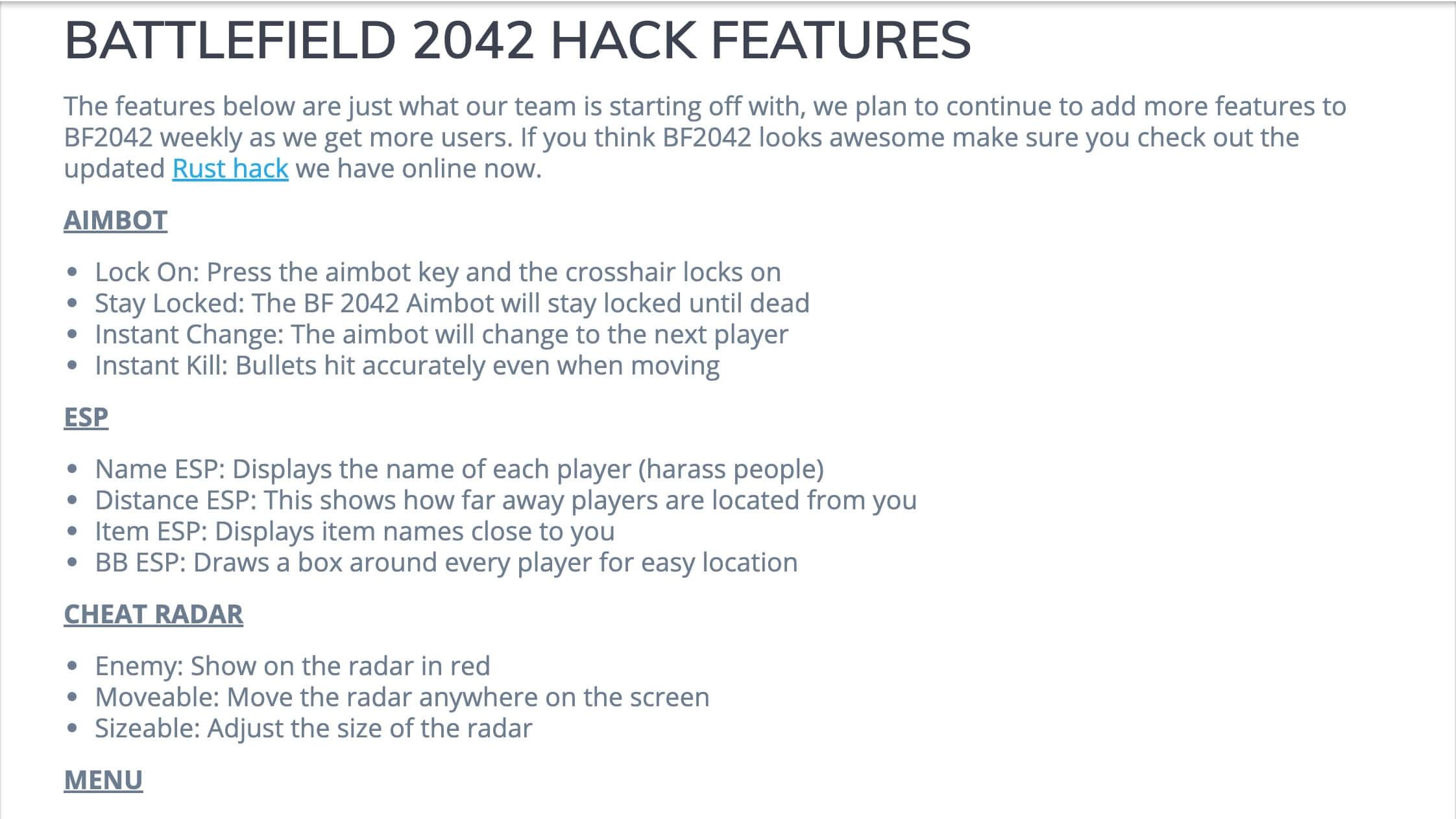 battlefield 2042 hack cheats